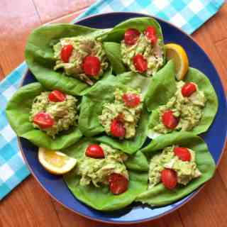 Avocado Chicken Salad Wraps