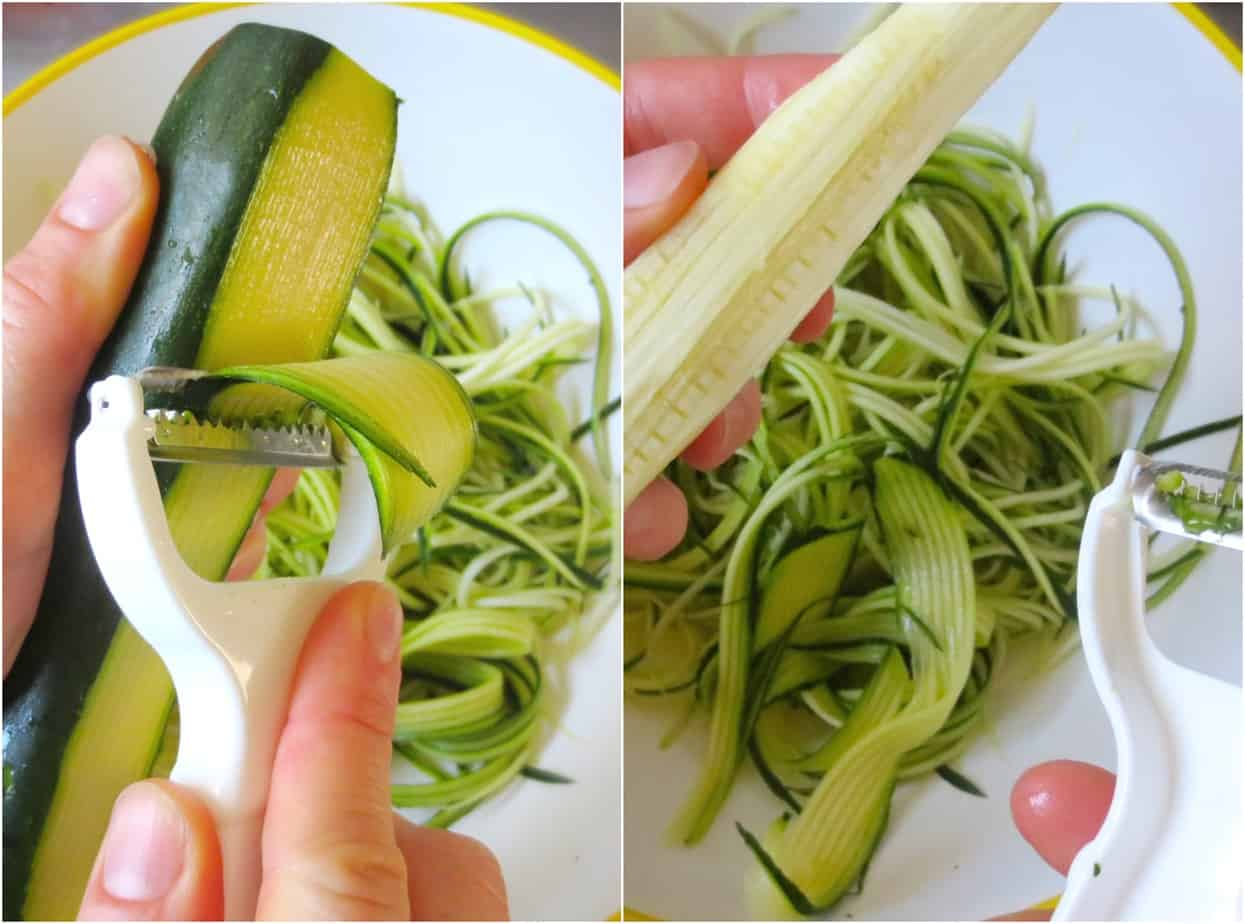 Easy Zucchini Noodles with Julienne Peeler