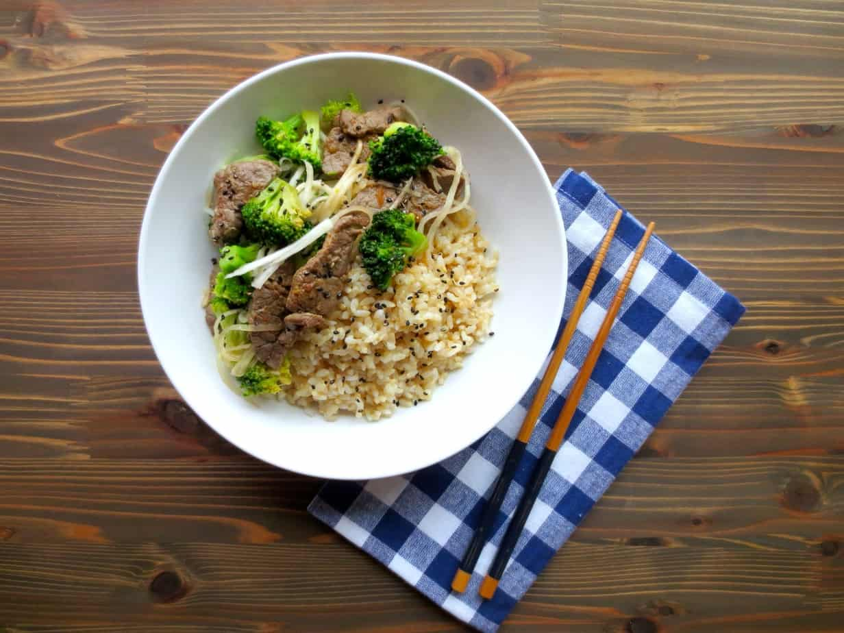 Korean Beef & Broccoli Bowls #easydinner #realfood