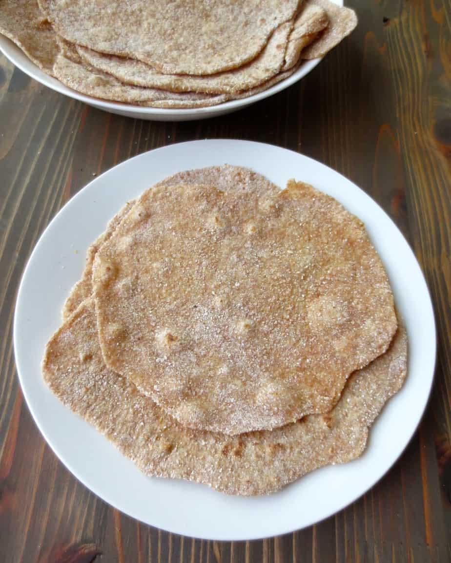 Simple Whole Wheat Raita- just three ingredients: flour, salt, and water. #goodandcheap #budget #realfood #frugalnutrition