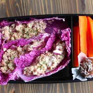 No Mayo Tuna Fish Cabbage Wraps Bento Box   Frugal Nutrition