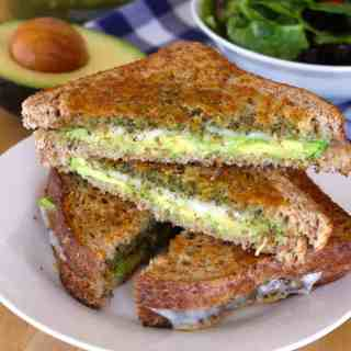 Avocado, Pesto, & Provolone Grilled Cheese | Frugal Nutrition #grilledcheese #easyweeknightdinner #lunch