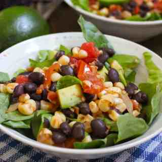 Pan Roasted Corn and Tomato Salad $1.17 per serving | Frugal Nutrition