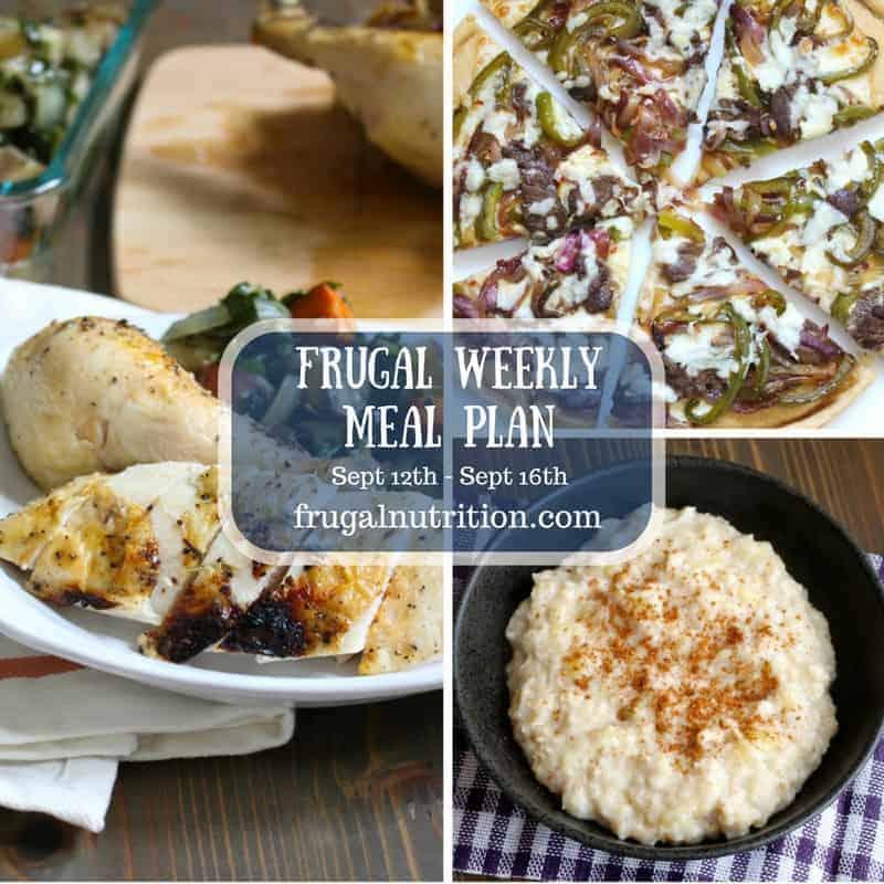 Frugal Weekly Meals September 19th | Frugal Nutrition