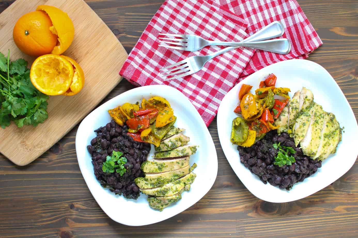 Super Flavorful Cuban Cilantro Orange Chicken | Frugal Nutrition
