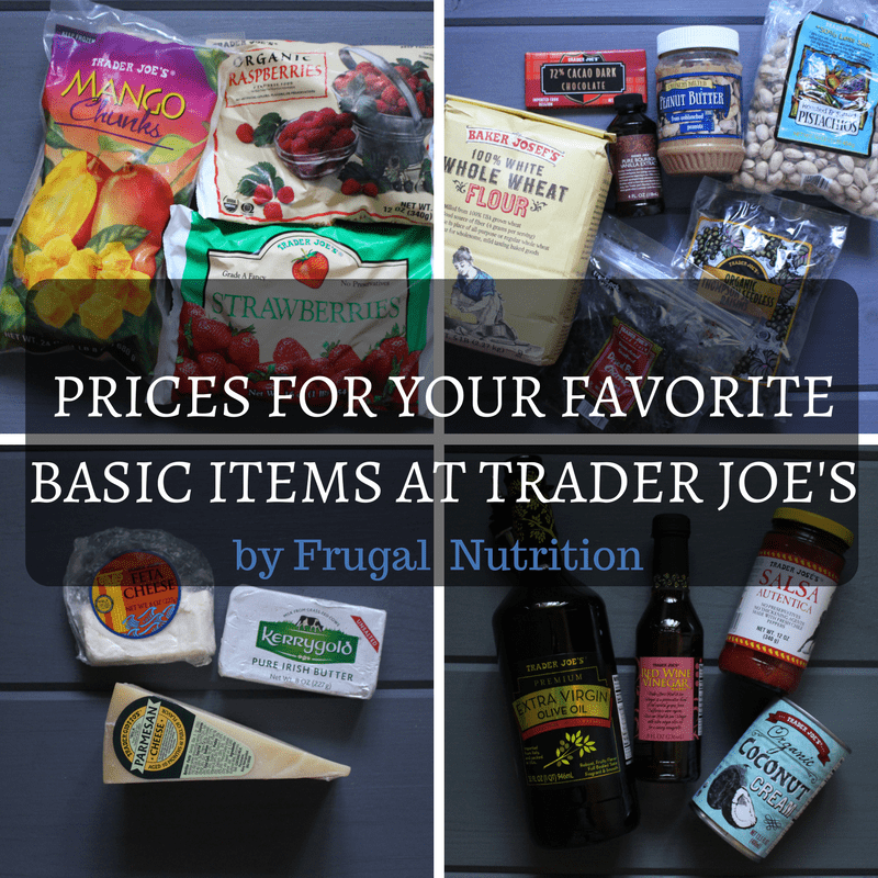 Trader Joe\'s Prices - Real Food Deals   Frugal Nutrition