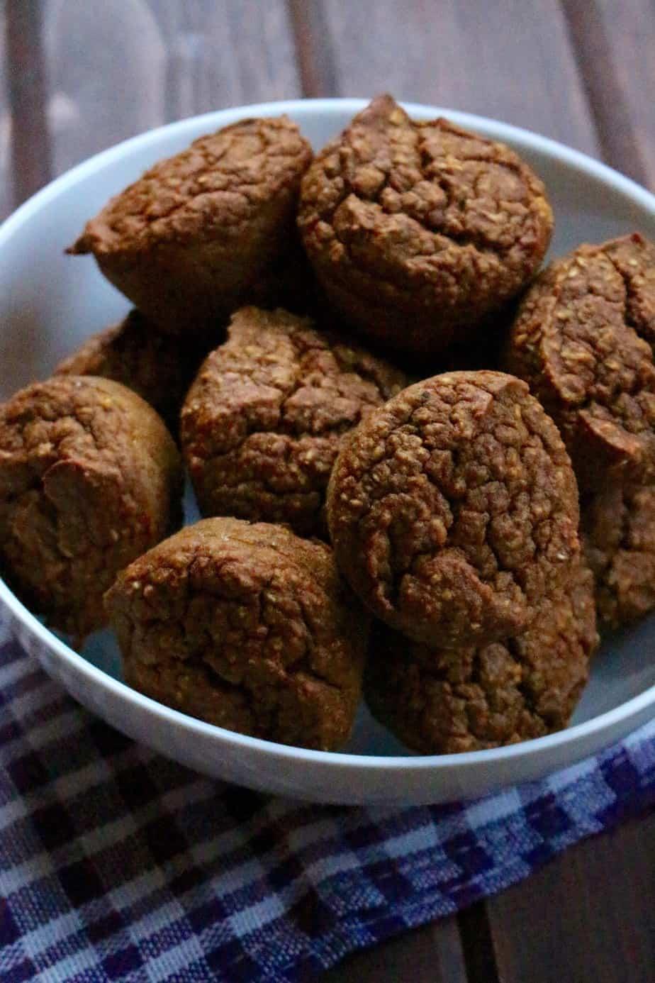 Easy Blender Pumpkin Muffins No Added Sugar   frugalnutrition.com