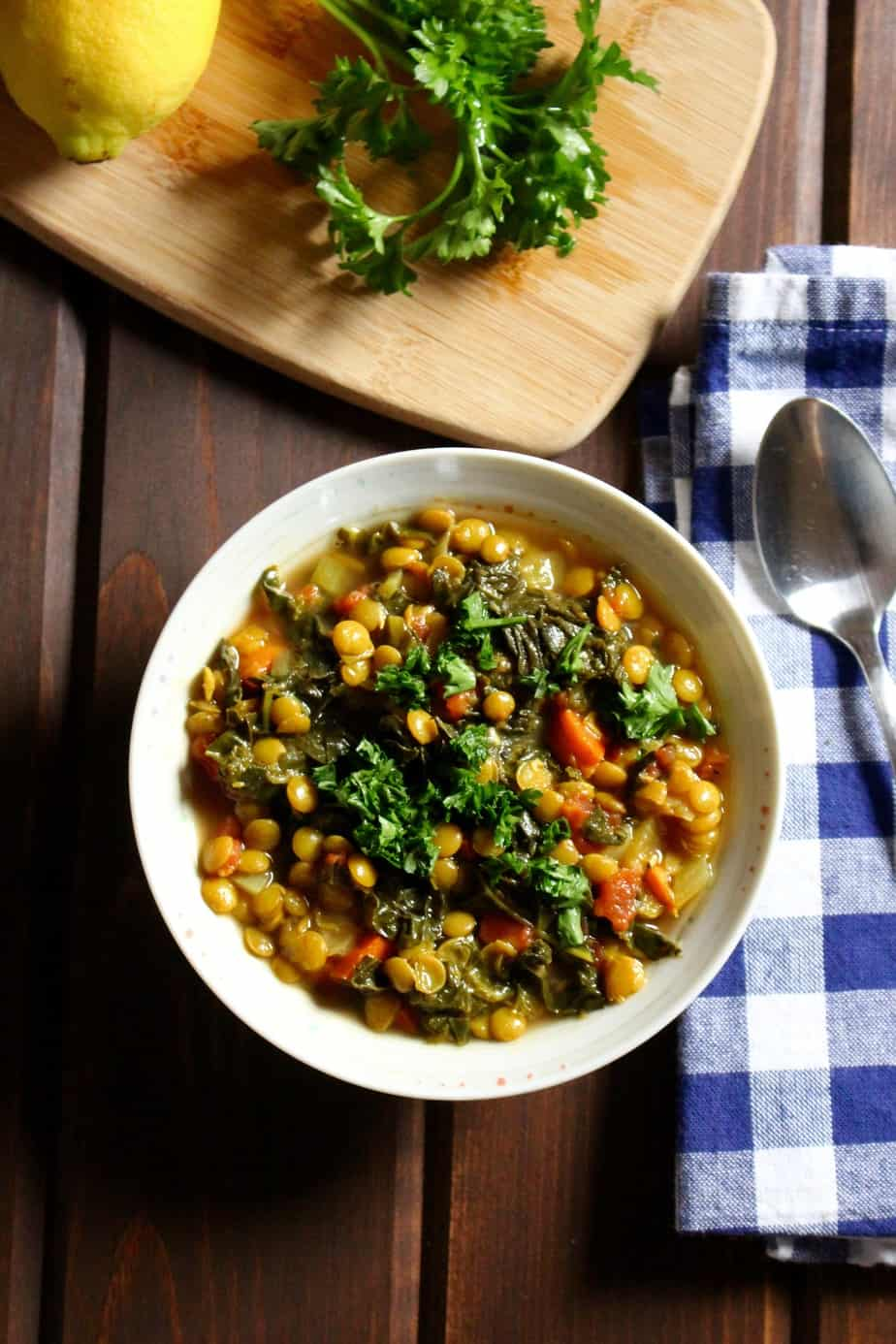 Lemony Lentil Stew | Frugal Nutrition