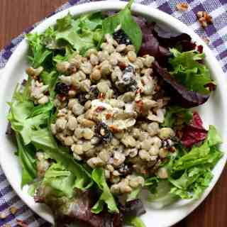 Lentil Goat Cheese Cherry Salad | Frugal Nutrition