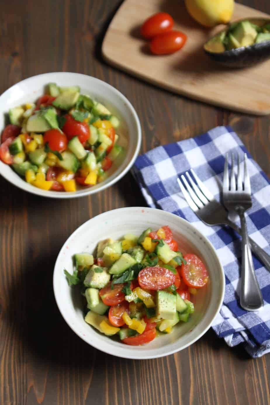 Easy Summery Vegetable Salad with Avocado | Frugal Nutrition #whole30