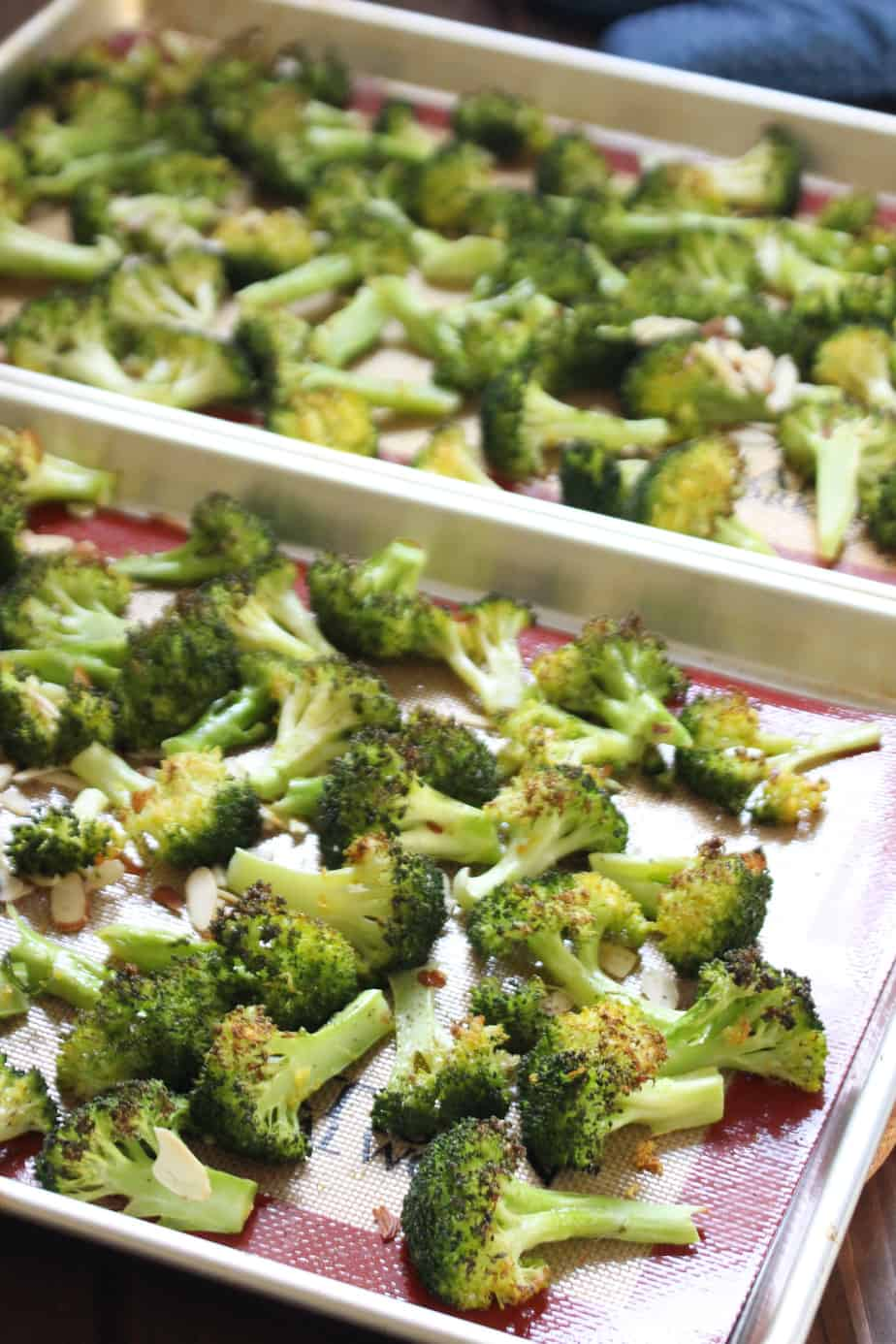 Lemon and Almond Roasted Broccoli   Frugal Nutrition