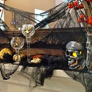 We are getting our frugelegantly spookydecor halloweenmantel going ontheblog hellip