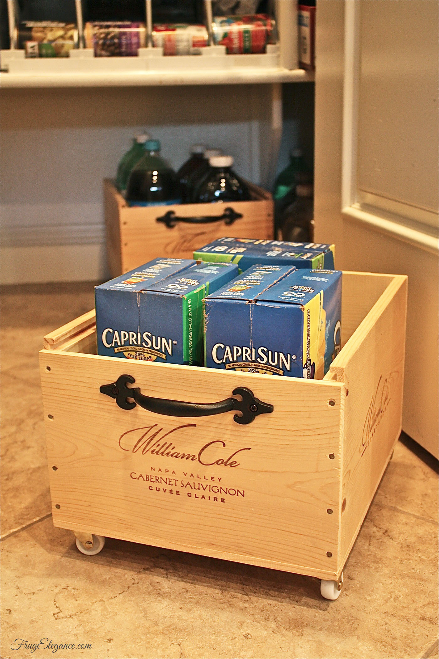 Wine crates up cycle recycle with wheels frugelegance What to do with wine crates
