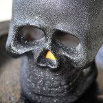 Easy Halloween Decor Light Up Skull
