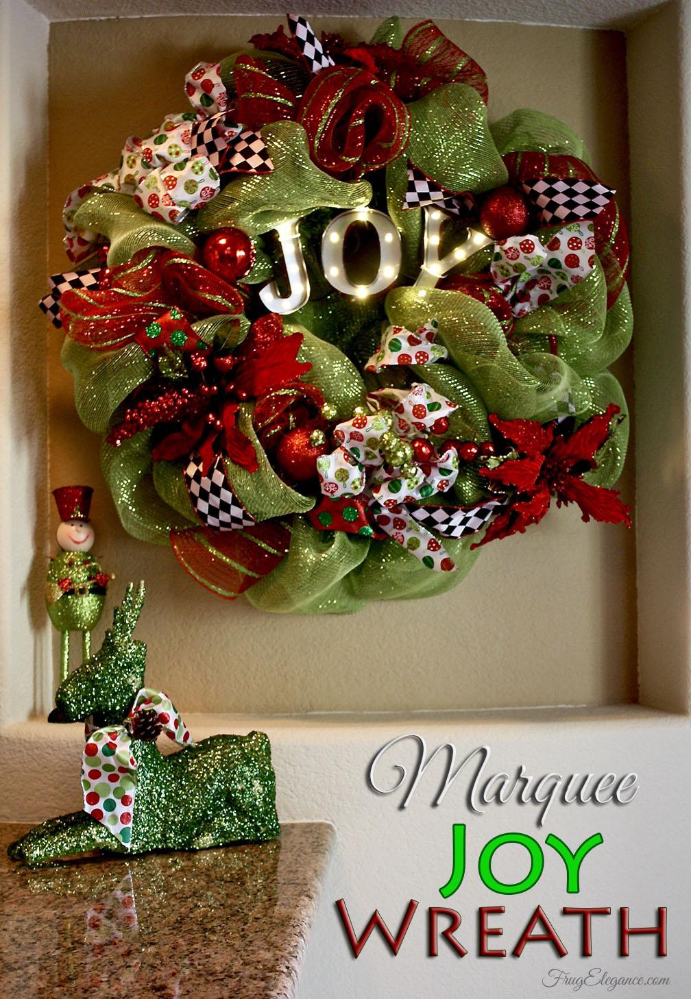 Battery Christmas Wreath