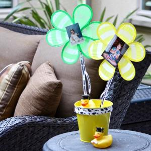 Easy to make graduation outdoorparty centerpieces frugelegant style! graduationparty