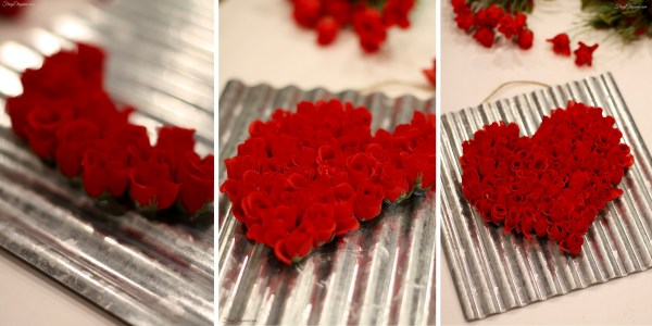 Super Easy Rose Heart Sign | FrugElegance | www.frugelegance.com