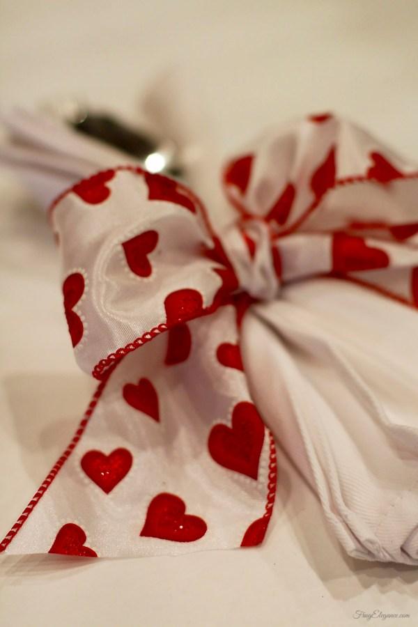 Super Easy Valentine Napkin Rings Ideas | FrugElegance | www.frugelegance.com