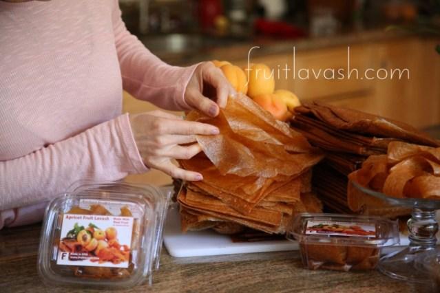 Apricot Fruit Lavash available on fruitlavash.com
