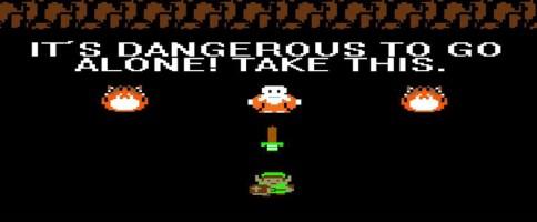 link_zelda_dangerous to go alone