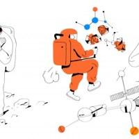 Astronaut Illustrations by Vincent Mahe