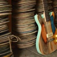 Skateboard Decks Recycled in Guitars