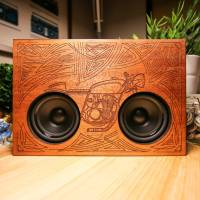 New Wooden Engraved Boomboxes Designed by Several Artists
