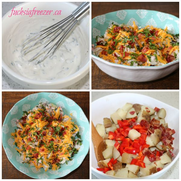 Fully Loaded Baked Potato Salad Mixings