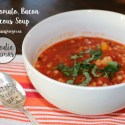 Roasted Tomato, Bacon, Couscous Soup #FoodieMamas