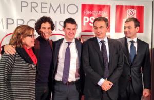 José Luis Rodriguez Zapatero galardonado con el Premio Compromiso 2013 del PSOE Fuencarral