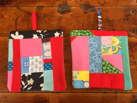 Old Quilt Potholders
