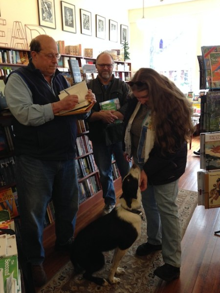 Jon, Jeff, Candy (wearing one of my Vintage Hankie Scarves) and Red at Battenkill Books on Saturday.