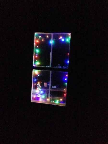 Lights in my studio window