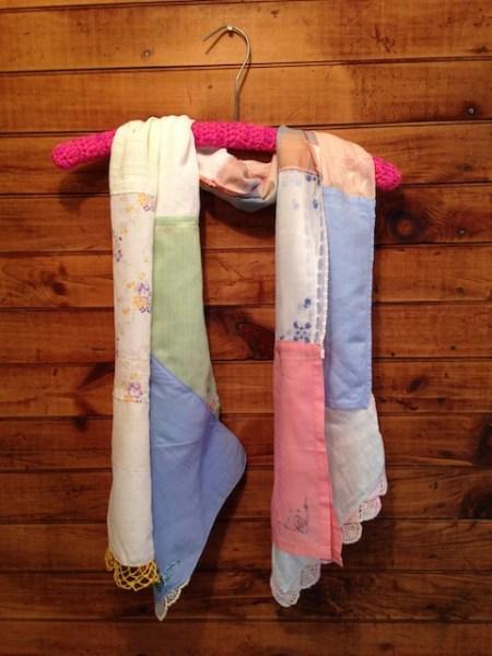 blue/pink/tan Scarf