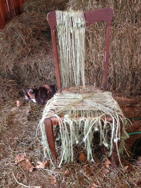 stringing a chair