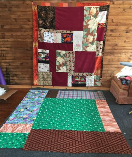 new quilt w backing