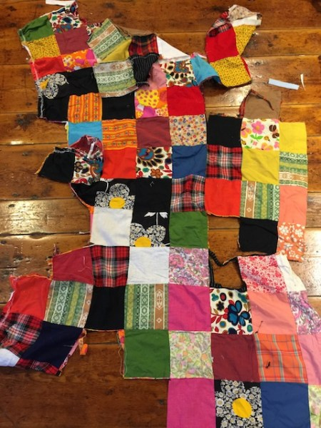 The Patchwork Skirt, after I got to it.