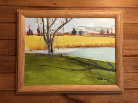 """Contemplative Spot By Marilyn Brooks 12""""x16"""" $140 + shipping"""