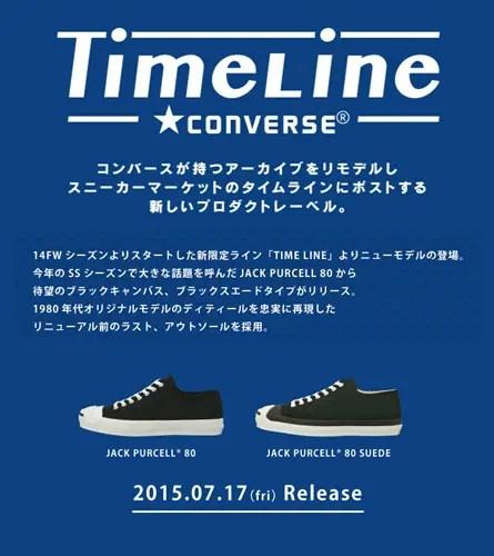 7/17発売!コンバース タイムラインからジャックパーセルが2モデルリリース! (CONVERSE Time Line JACK PURCELL 80)