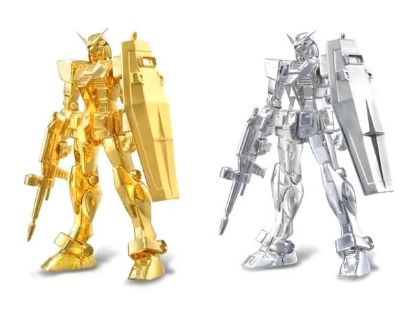 純金銀製の2,000万円ガンダムが今日7/18から発売!約1000gの純金を使用!
