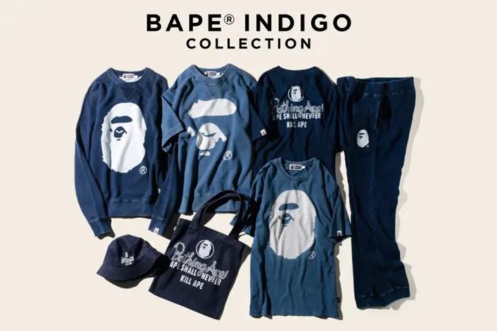 インディゴ染めを施したA BATHING APE INDIGO COLLECTIONが9/19から発売!(エイプ インディゴ コレクション)