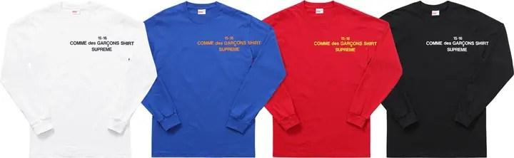 【速報】SUPREME x COMME des GARCONS SHIRT 15-16 FALL/WINTERが9/26から発売!(シュプリーム コム デ ギャルソン・シャツ)
