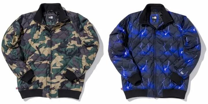 NEW ERAからカモフラ & ライトニングパターンのキルティング仕様ライトアウター「Quilted Jacket」が発売!(ニューエラ キルテッド ジャケット)