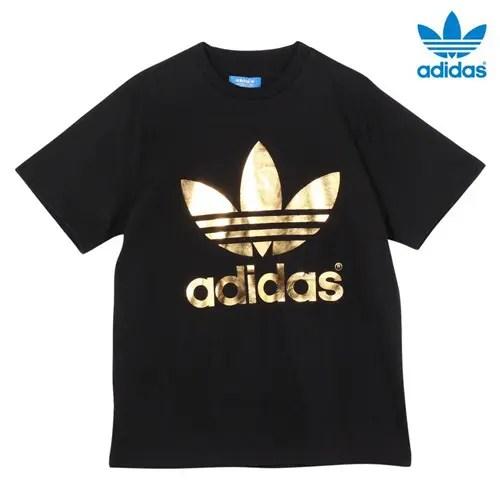 金ロゴ!adidas FOIL TEEが発売! (アディダス ホイル ティーシャツ) [S92516]