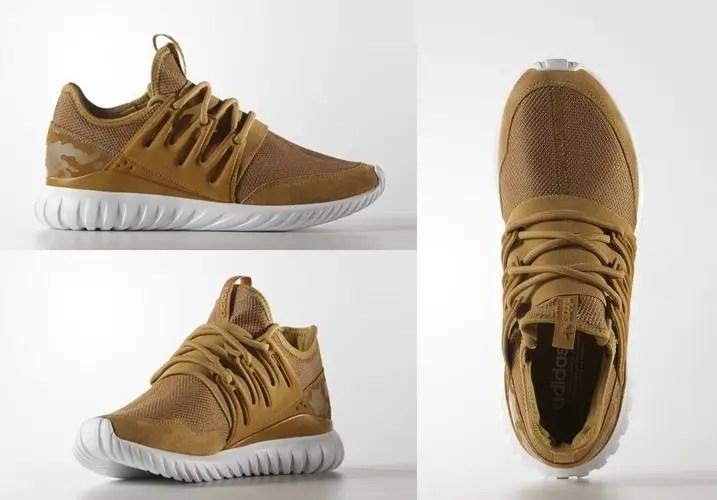 """ウィートカラーのアディダス オリジナルス チュブラー ラジアル (adidas Originals TUBULAR RADIAL """"Wheat"""") [AQ3403]"""