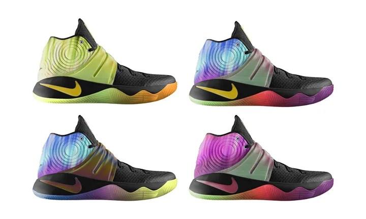 3種類の虹色シーングラフィックを追加!NIKE iD KYRIE 2 (ナイキ カイリー 2)