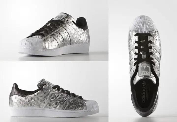 """オーストリッチ & メタリックシルバーのアディダス オリジナルス スーパースター (adidas Originals SUPERSTAR """"Silver Metallic"""") [AQ4701]"""