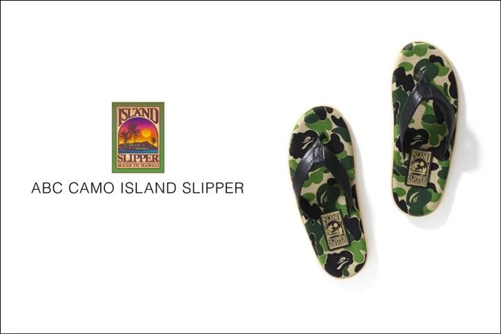 A BATHING APE × ISLAND SLIPPER コラボ!ABCカモで仕上げた「ABC ISLAND SLIPPER」が5/28から発売!(エイプ)
