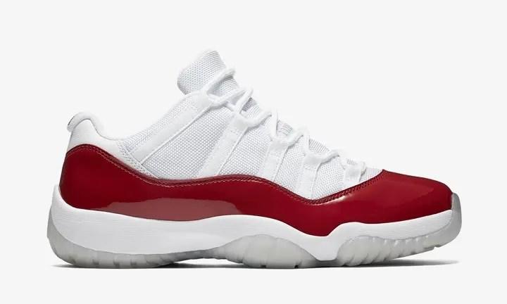 【オフィシャルイメージ】海外6/4発売!ナイキ エア ジョーダン 11 ロー ホワイト/バーシティレッド (NIKE AIR JORDAN XI LOW White/Varsity Red) [528895-102]