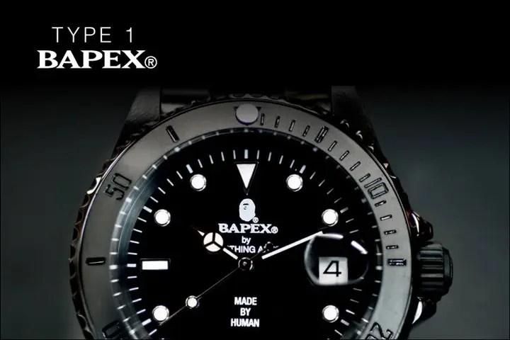 A BATHING APEから腕時計シリーズの「BAPEX」最新作!「TYPE 1 BAPEX」3カラーが7/30から再発売!(エイプ)